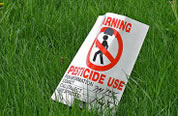 Pesticide caution sign